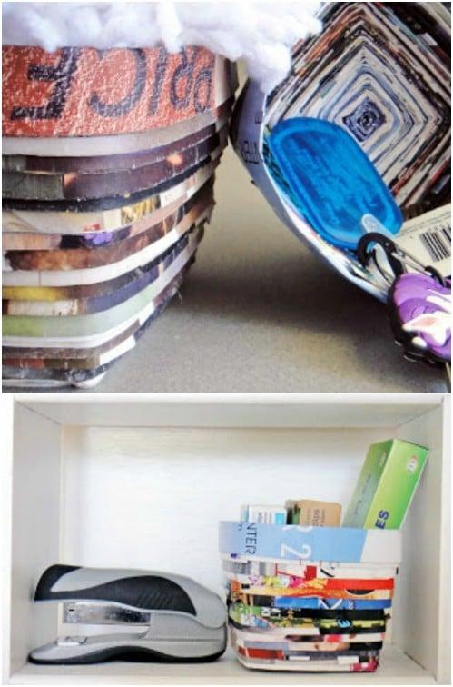DIY Magazine Storage Basket