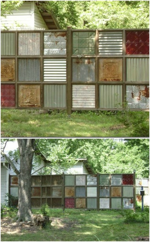 Recycled Metal Fence Decoration