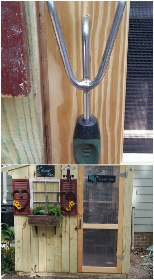 Repurposed Garden Tool Door Handle
