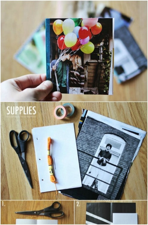 DIY Magazine Notebook