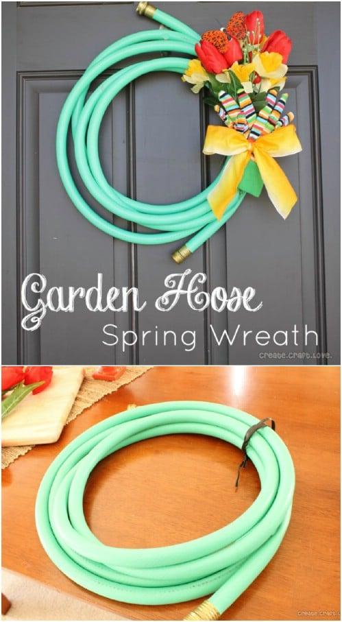 Upcycled Garden Hose Wreath