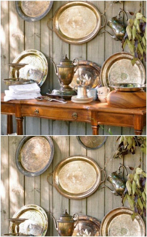 Repurposed Silver Trays
