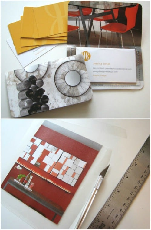 Recycled Magazine Card Holders