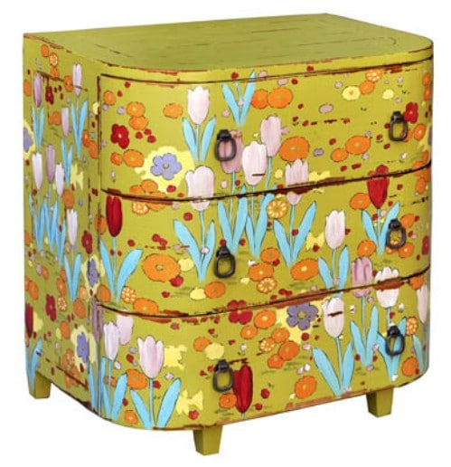 Paint with fun bright colors and patterns.