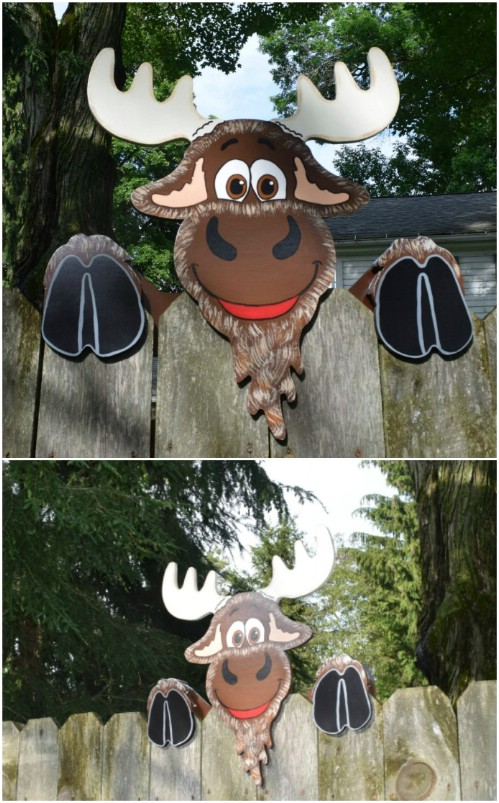 Whimsical Animal Fence Decorations