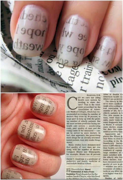 Gorgeous Magazine Page Nails