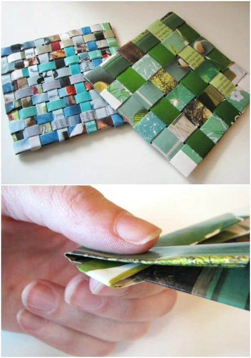 Woven Recycled Magazine Coasters