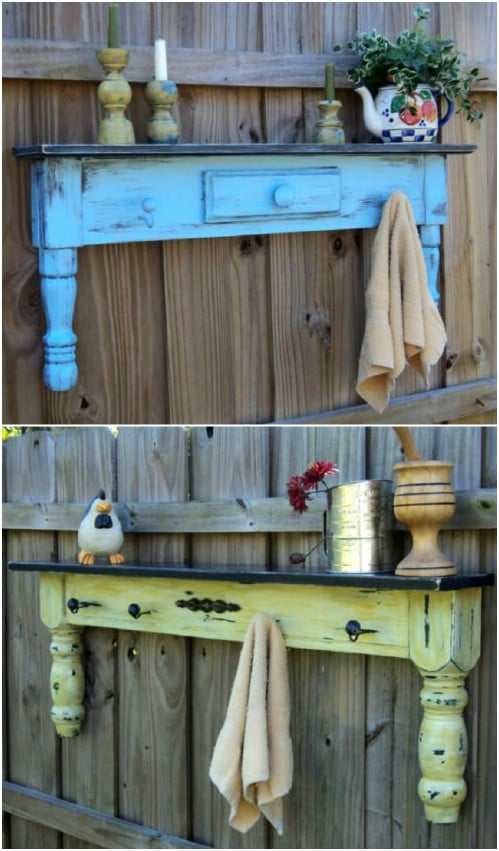 Upcycled Coffee Table Fence Décor