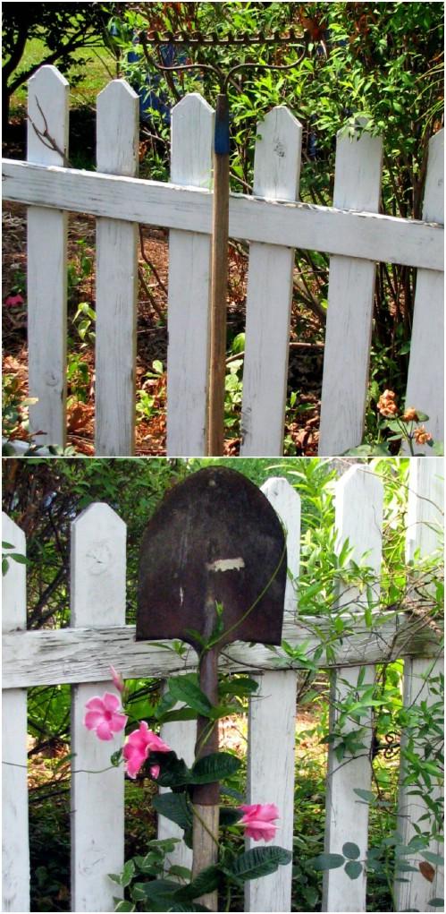 Custom Garden Trellis From Upcycled Rake