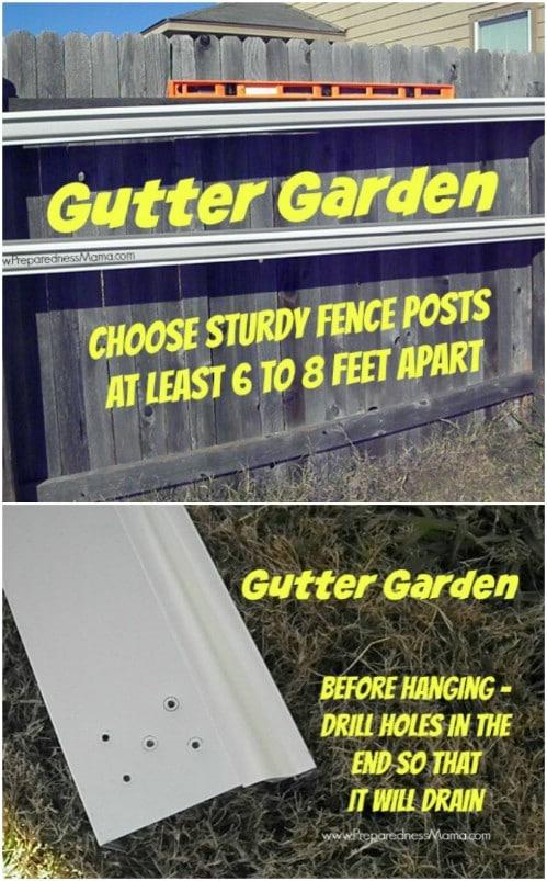 Gutter Fence Garden