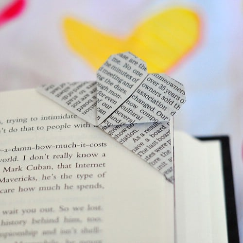 Magazine Page Origami Bookmark