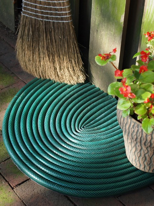 DIY Garden Hose Door Mat