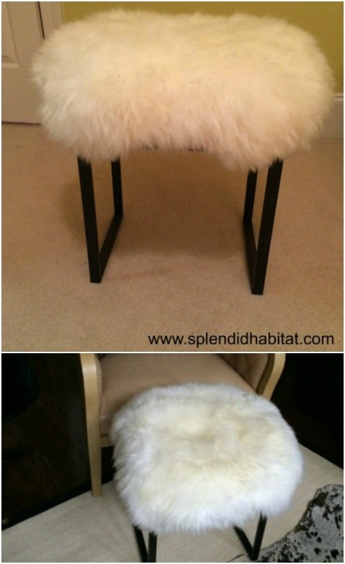 Repurposed Carpet Stool