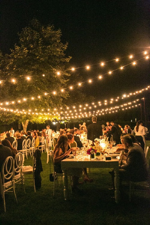 Easy Outdoor Wedding Lighting