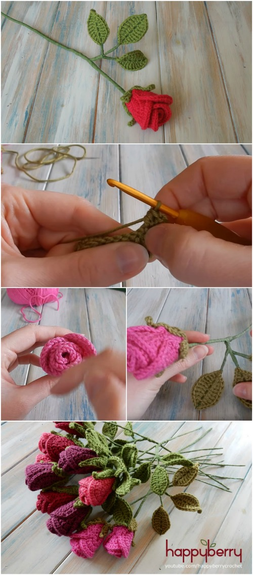 How To Easily Create Gorgeous Crocheted Roses Video Tutorial