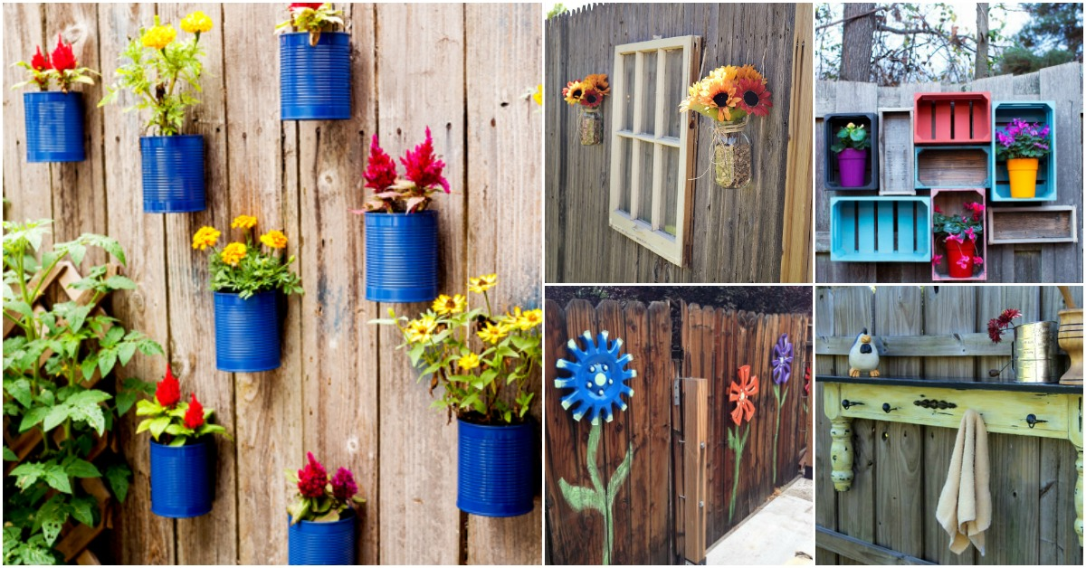30 Eye Popping Fence Decorating Ideas That Will Instantly