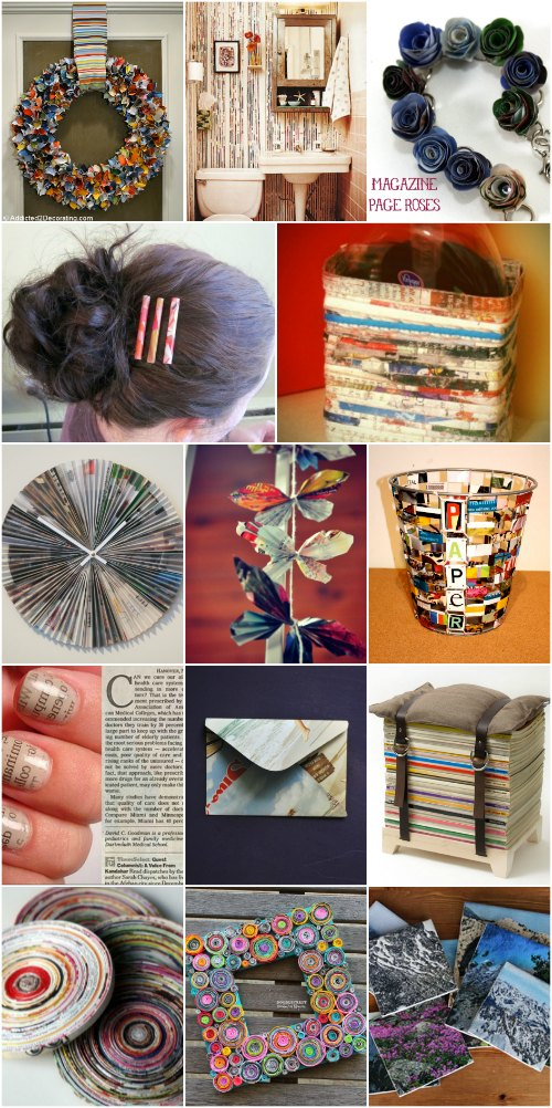 30 Crafty Ways To Repurpose Old Magazines {Trash to ...