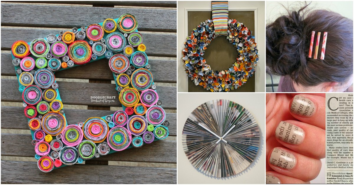 30 Crafty Ways To Repurpose Old Magazines And Turn That Trash Into Treasure