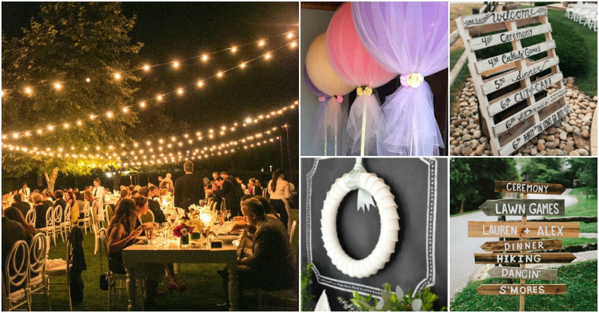 25 Top DIYs And Hacks For The Perfect Outdoor Wedding