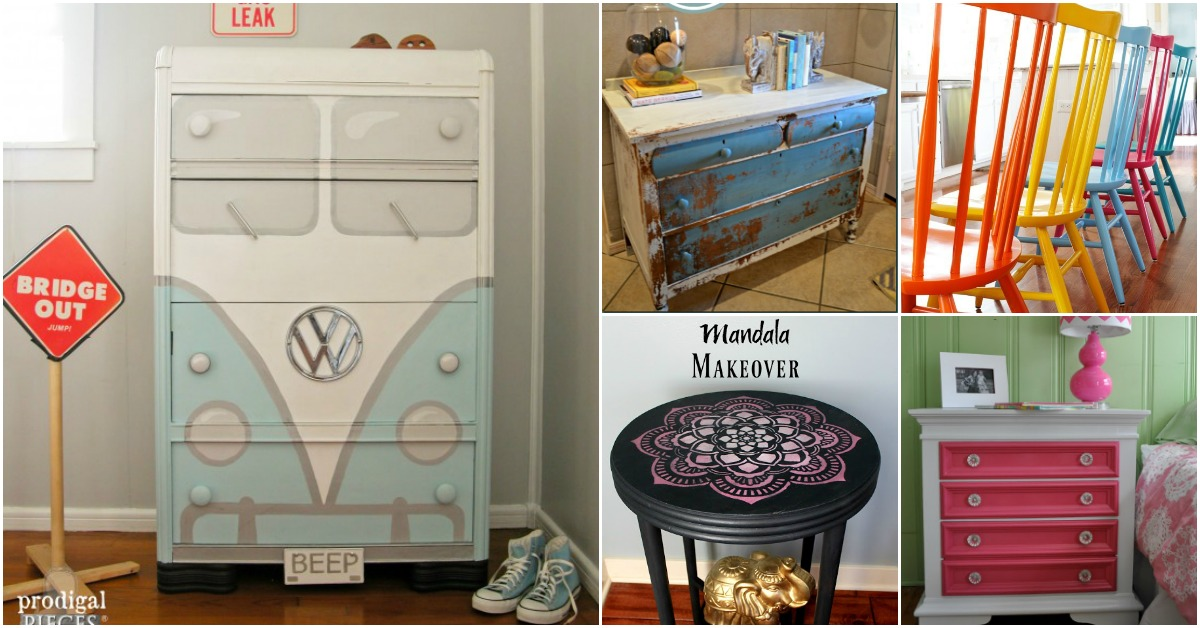 25 Beautiful Furniture Makeover Ideas Using Paint Diy Crafts
