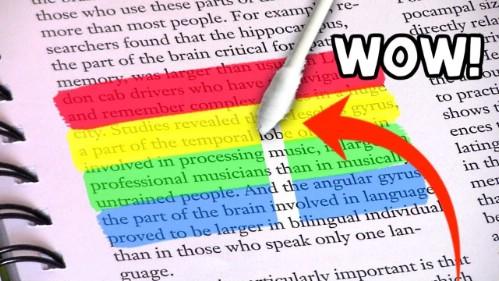 Erase highlighter marks the easy way.