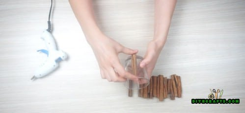 Cinnamon Stick Candleholder - Step 1