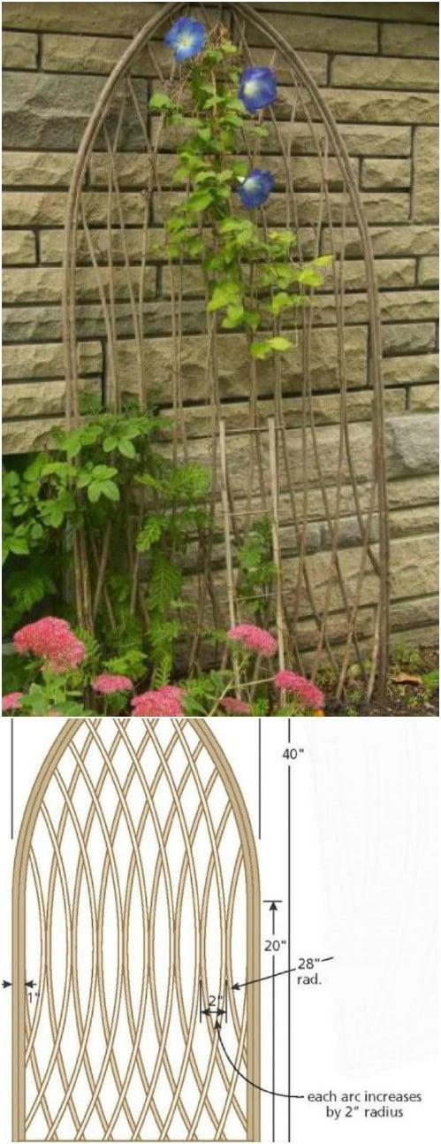 DIY Twig Trellis