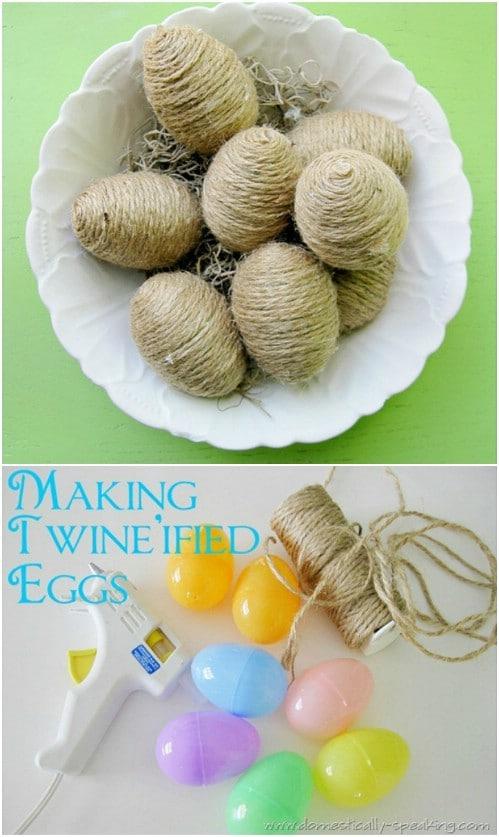 DIY Twine Eggs