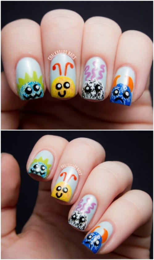 Adorable Fuzzy Monster Nails