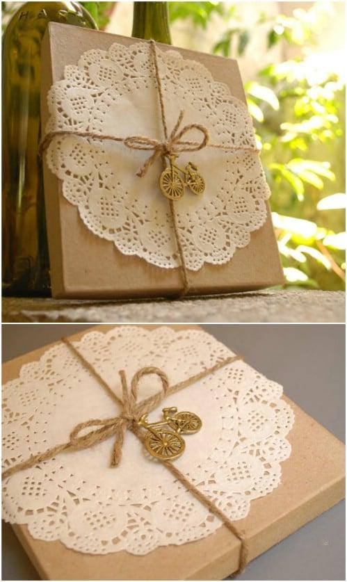 DIY Rustic Gift Wrap