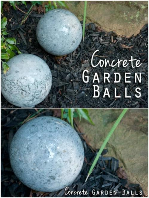 Easy Handmade Concrete Garden Balls