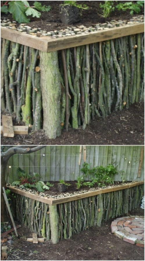 Natural Raised Garden Bed