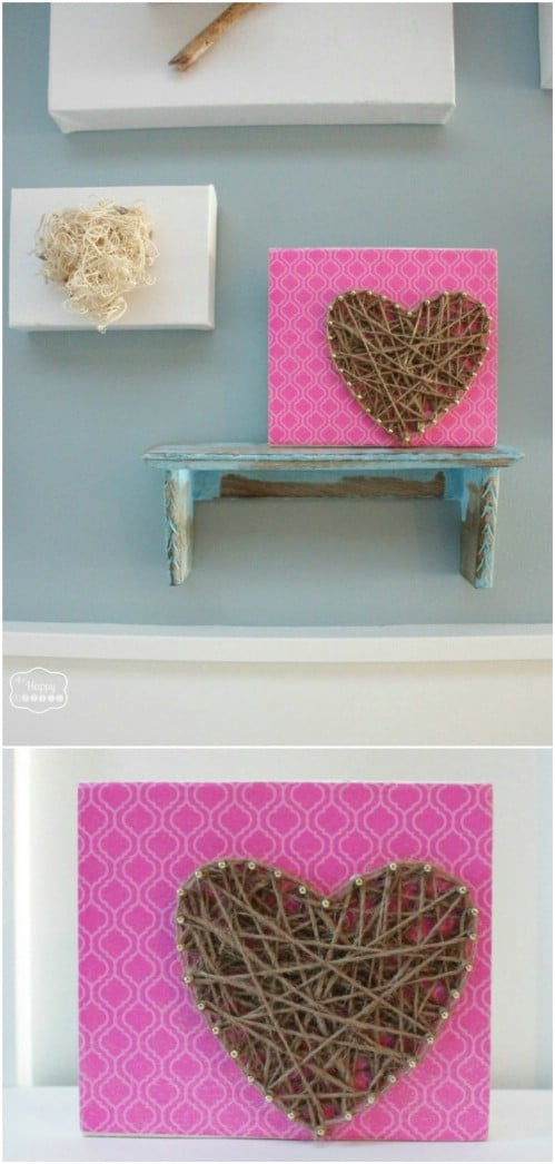 DIY Twine String Art