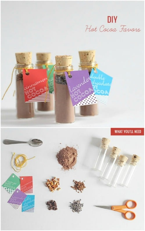 Homemade Hot Cocoa Kit Favors