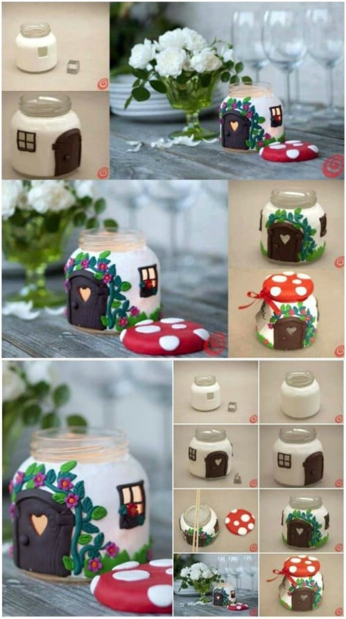 Adorable DIY Mushroom House