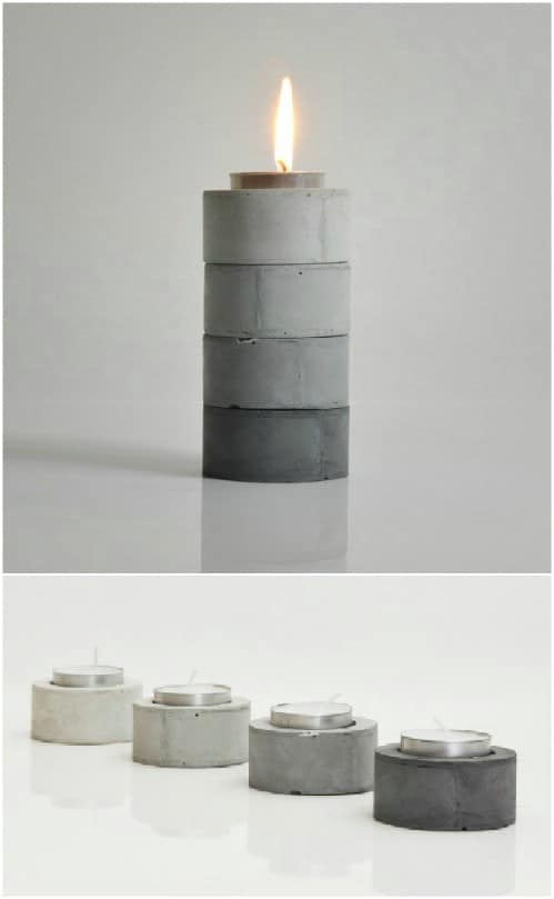 Concrete Gradient Tealight Holders