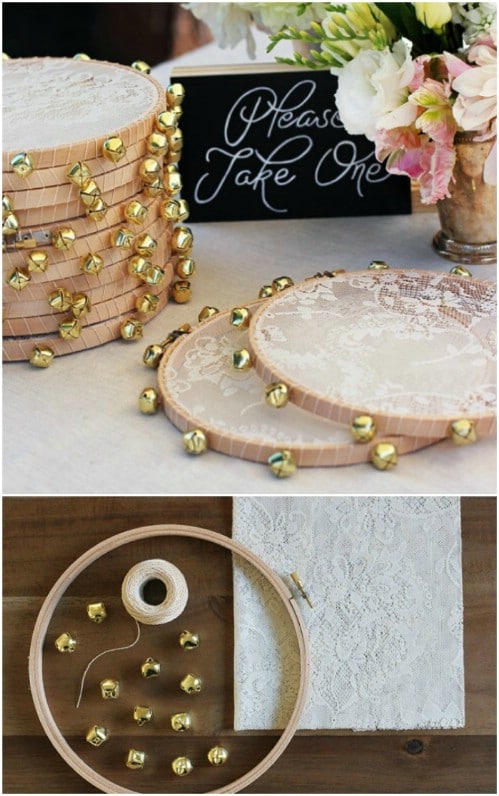DIY Lace Tambourine Favors