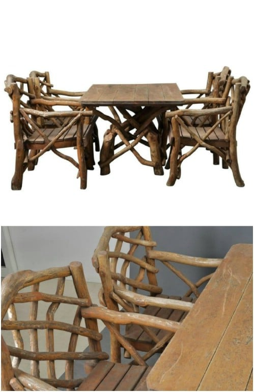 Twig Adirondack Chairs