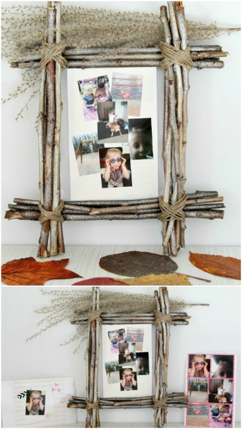 Rustic Twig Picture Frame