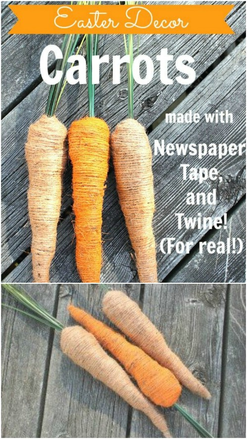 DIY Decorative Easter Carrots