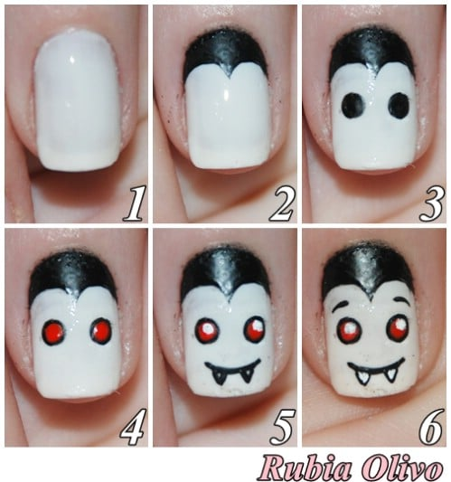 DIY Whimsical Vampire Nail Art