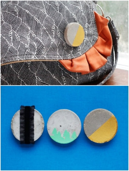 Easy DIY Concrete Brooches