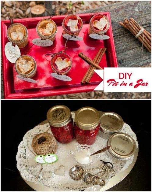 Homemade Pie In A Jar Wedding Favors