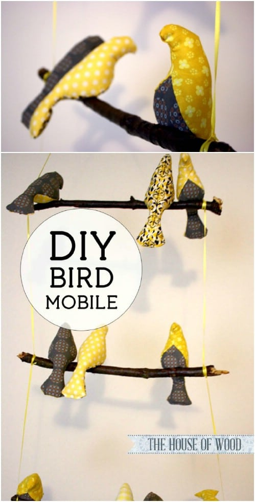 Upcycled Twig Bird Mobile