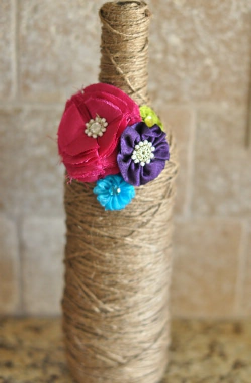 Decorative Twine Wrapped Bottle