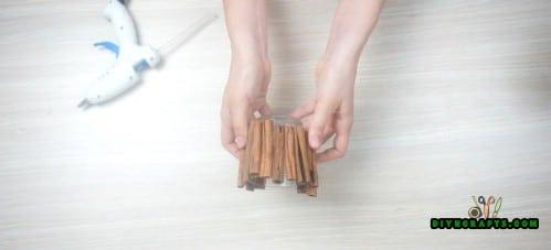 Cinnamon Stick Candleholder - Step 1