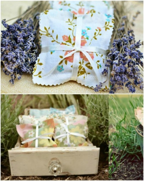 Upcycled Vintage Fabric Sachets