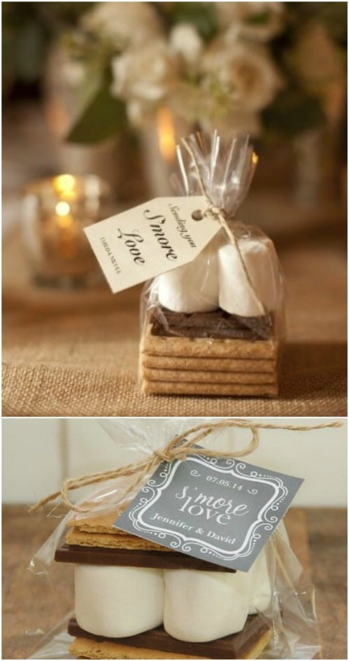 DIY S'mores Wedding Favor Kits
