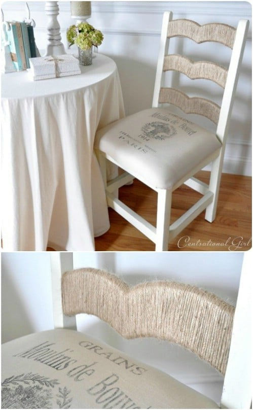 DIY Twine Accented Chair