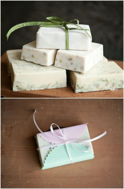 Homemade Soap Bar Wedding Favors